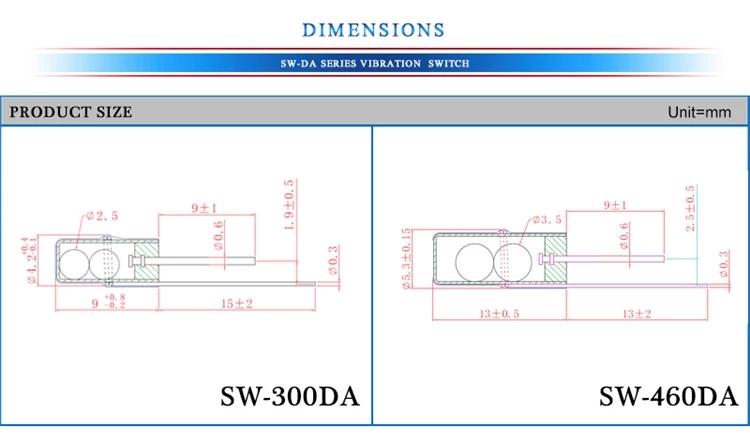 Vibration sensor,tilt sensor,hall sensor,reed switch