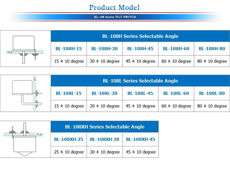 Vibration sensor,tilt sensor,angle switch,angle sensor